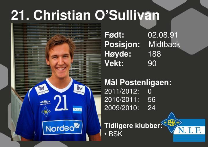 21. Christian O