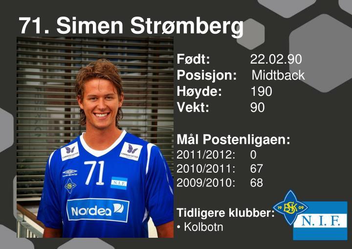 71. Simen Strømberg