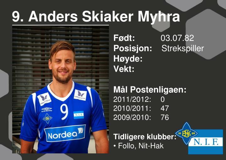 9. Anders Skiaker Myhra