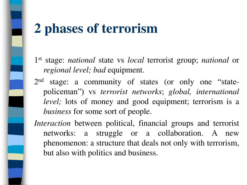2 phases of terrorism
