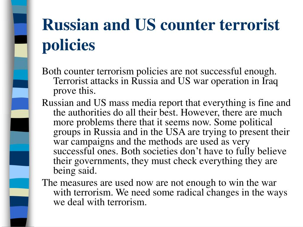 Russian and US counter terrorist policies