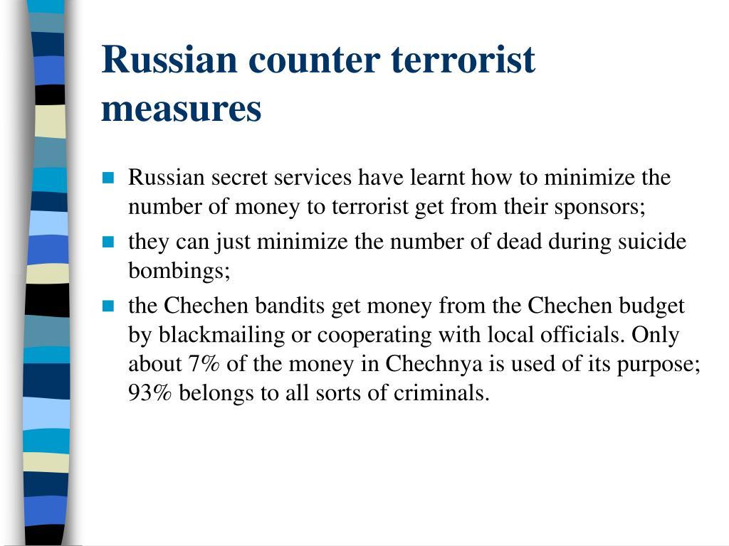 Russian counter terrorist measures