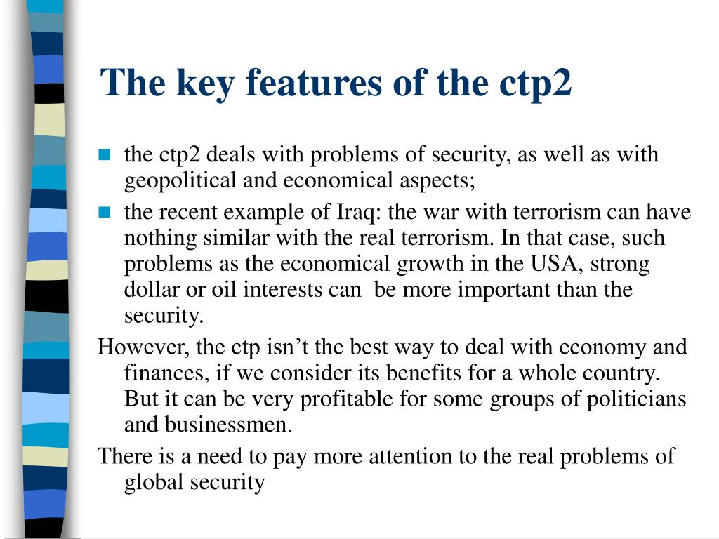 The key features of the ctp2