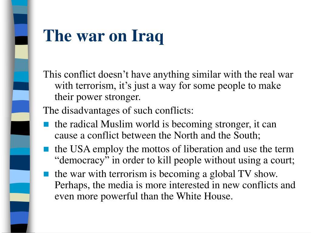 The war on Iraq