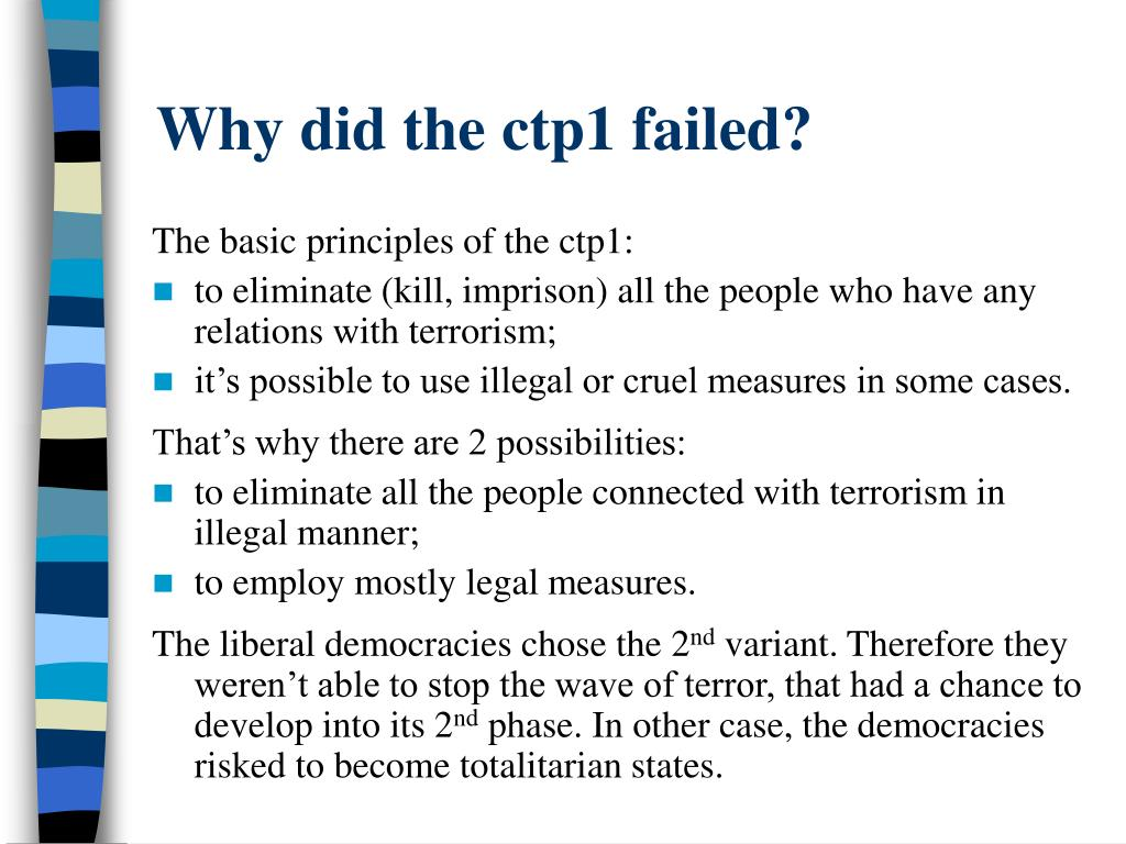 Why did the ctp1 failed?