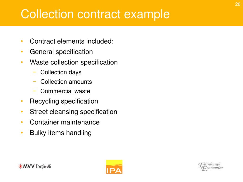 Collection contract example