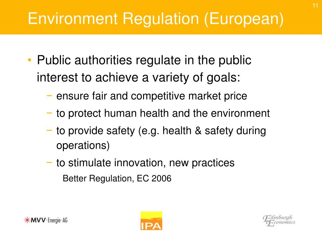 Environment Regulation (European)