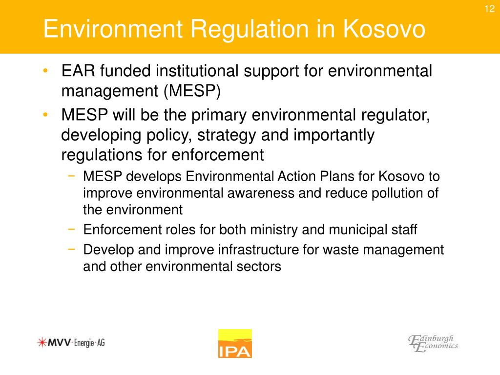 Environment Regulation in Kosovo