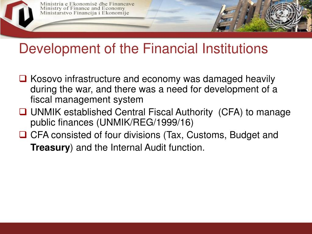 Development of the Financial Institutions