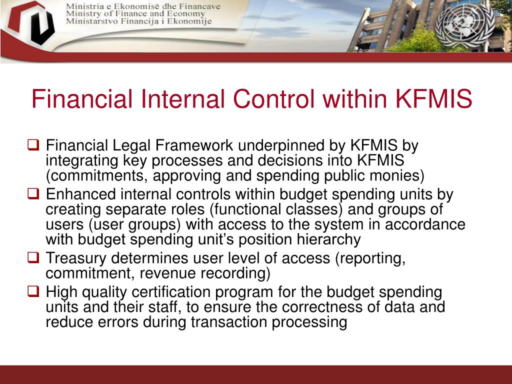 Financial Internal Control within KFMIS