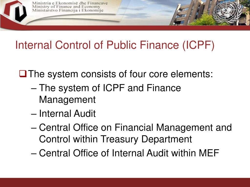 Internal Control of Public Finance (ICPF)