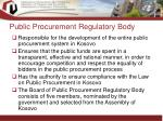 public procurement regulatory body