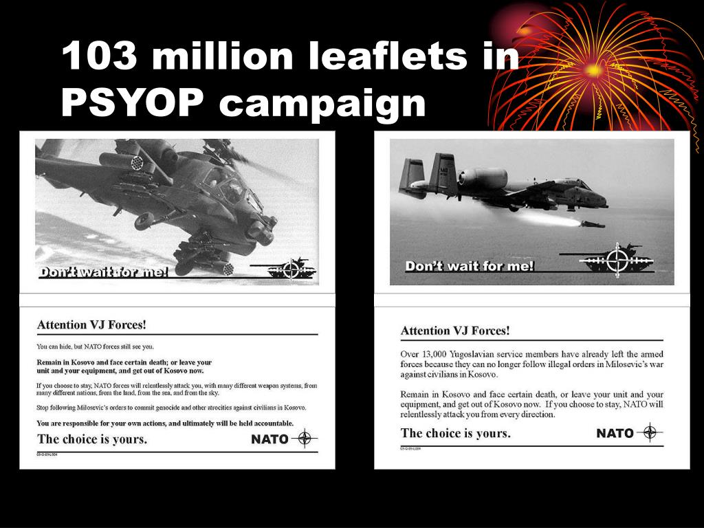 103 million leaflets in PSYOP campaign