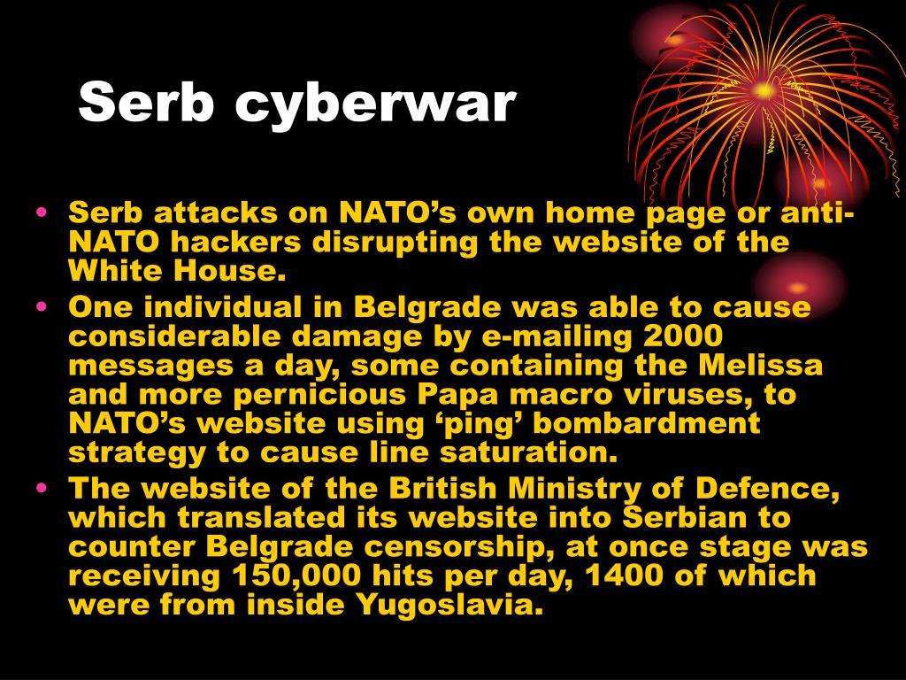 Serb cyberwar