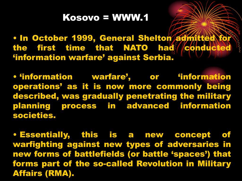 Kosovo = WWW.1