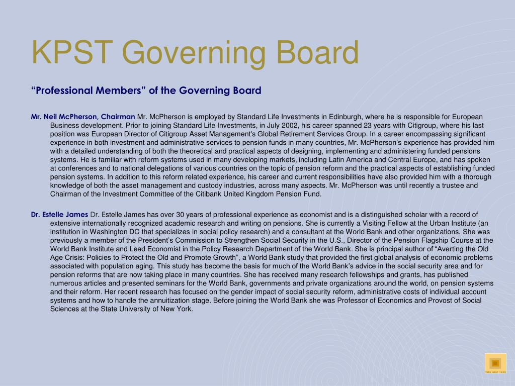 KPST Governing Board