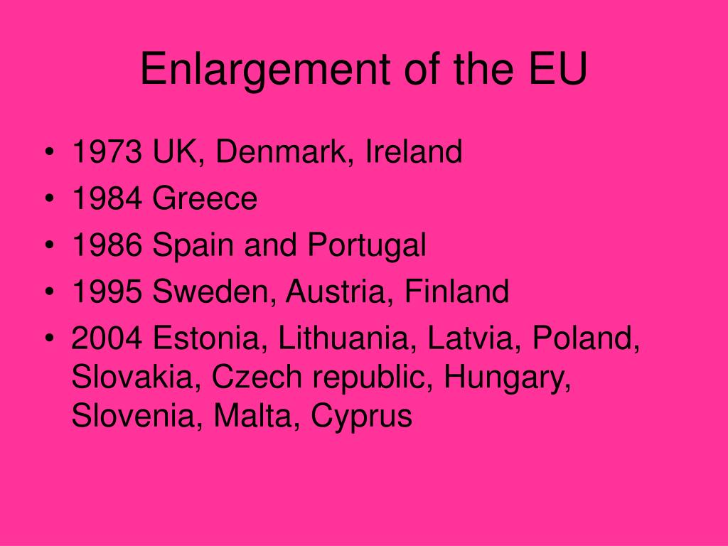 Enlargement of the EU
