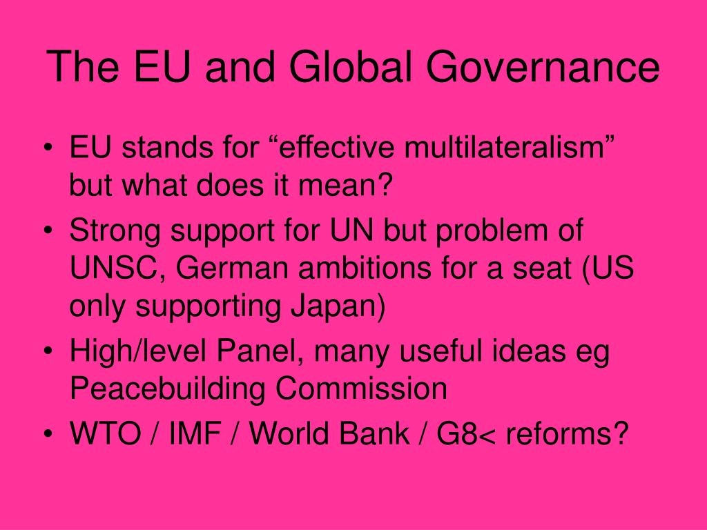 The EU and Global Governance