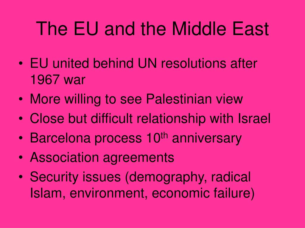 The EU and the Middle East