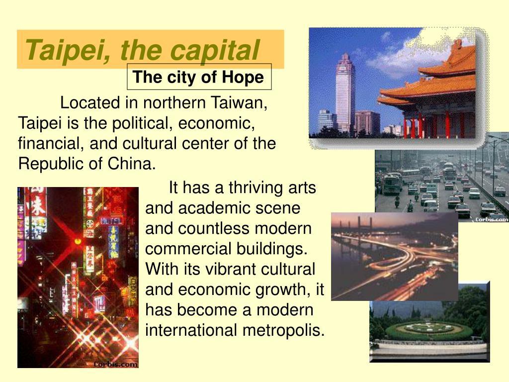 Taipei, the capital