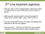 2 nd line treatment regimens