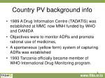 country pv background info
