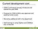 current development cont1
