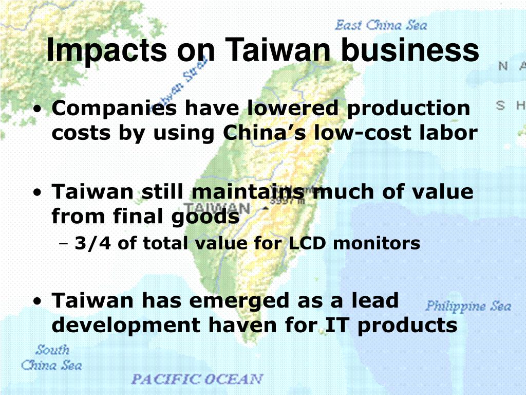 Impacts on Taiwan business