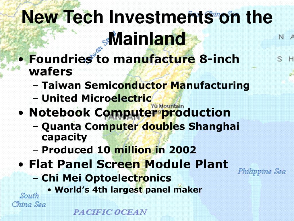 New Tech Investments on the Mainland