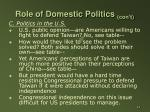 role of domestic politics con t12