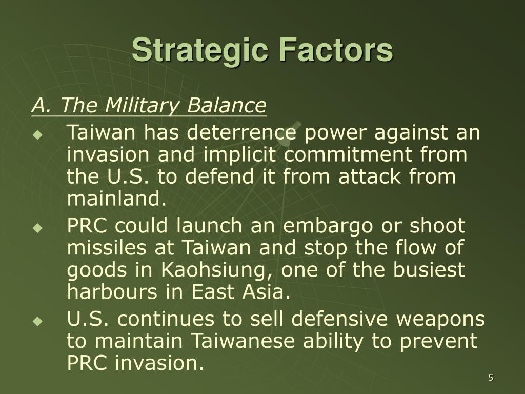 Strategic Factors