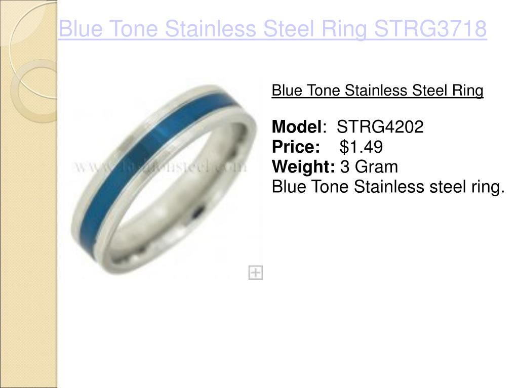 Blue Tone Stainless Steel Ring STRG3718