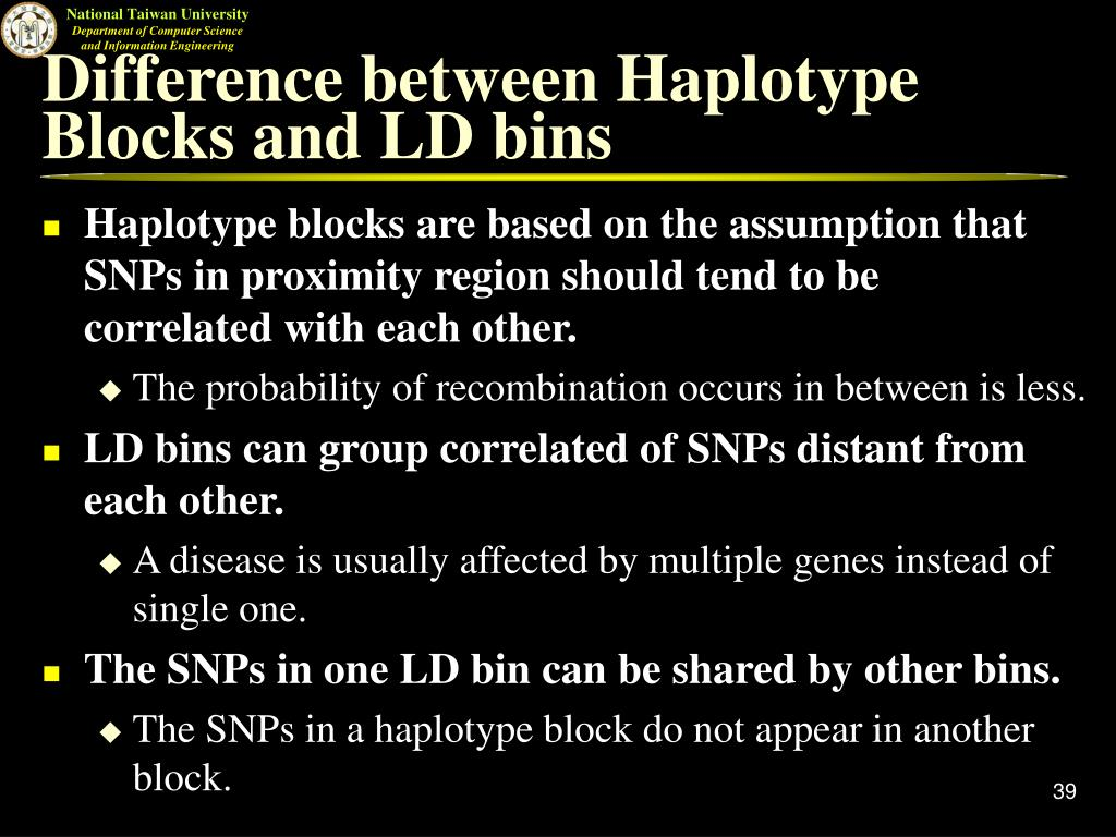 Difference between Haplotype Blocks and LD bins