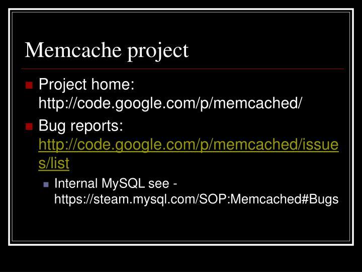 Memcache project