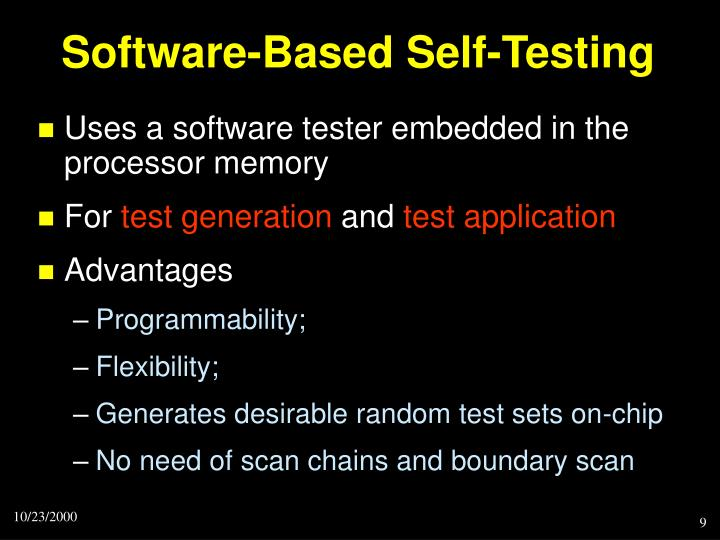 Software-Based Self-Testing