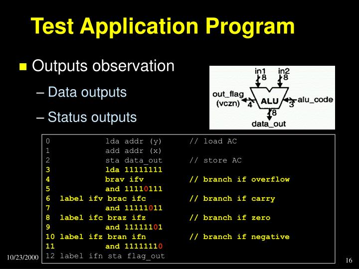 Test Application Program