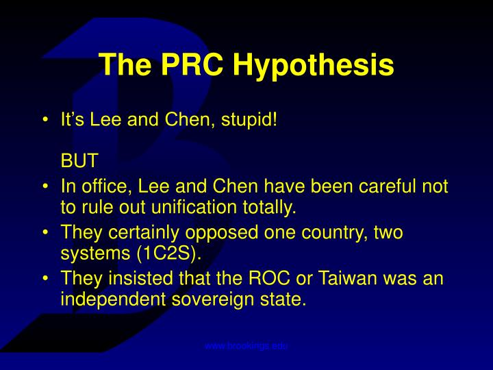 The prc hypothesis