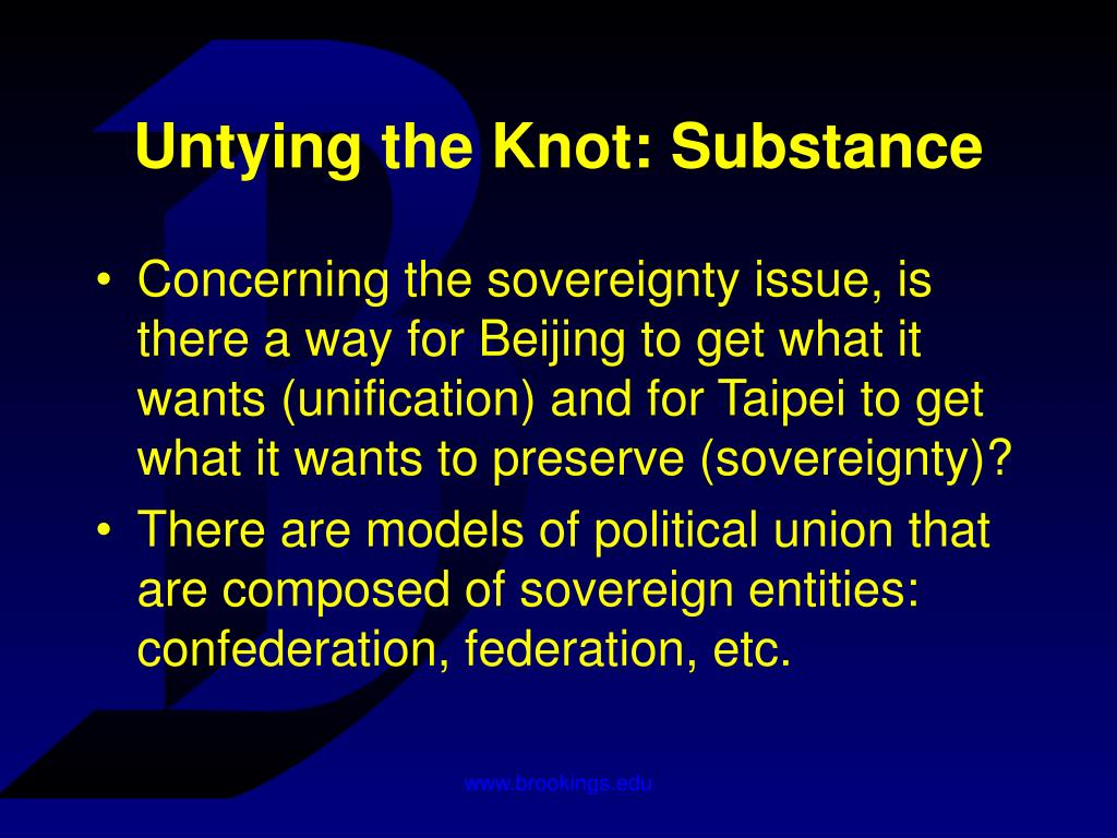 Untying the Knot: Substance