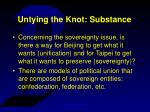 untying the knot substance