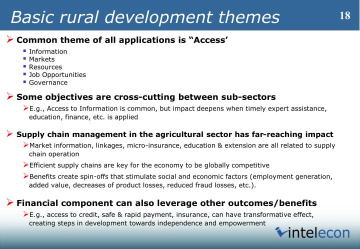 Basic rural development themes