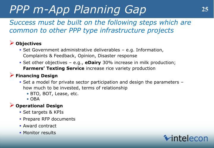 PPP m-App Planning Gap