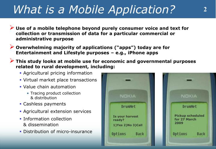 What is a mobile application
