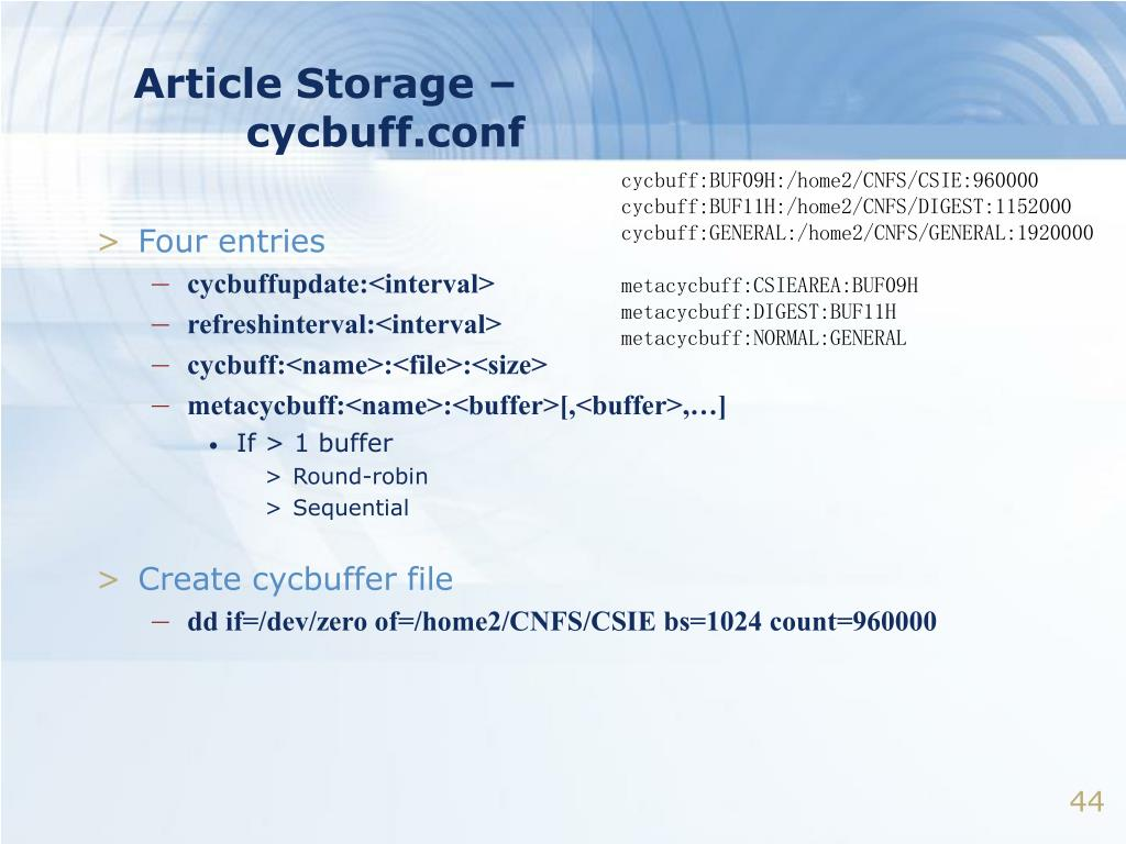 Article Storage –