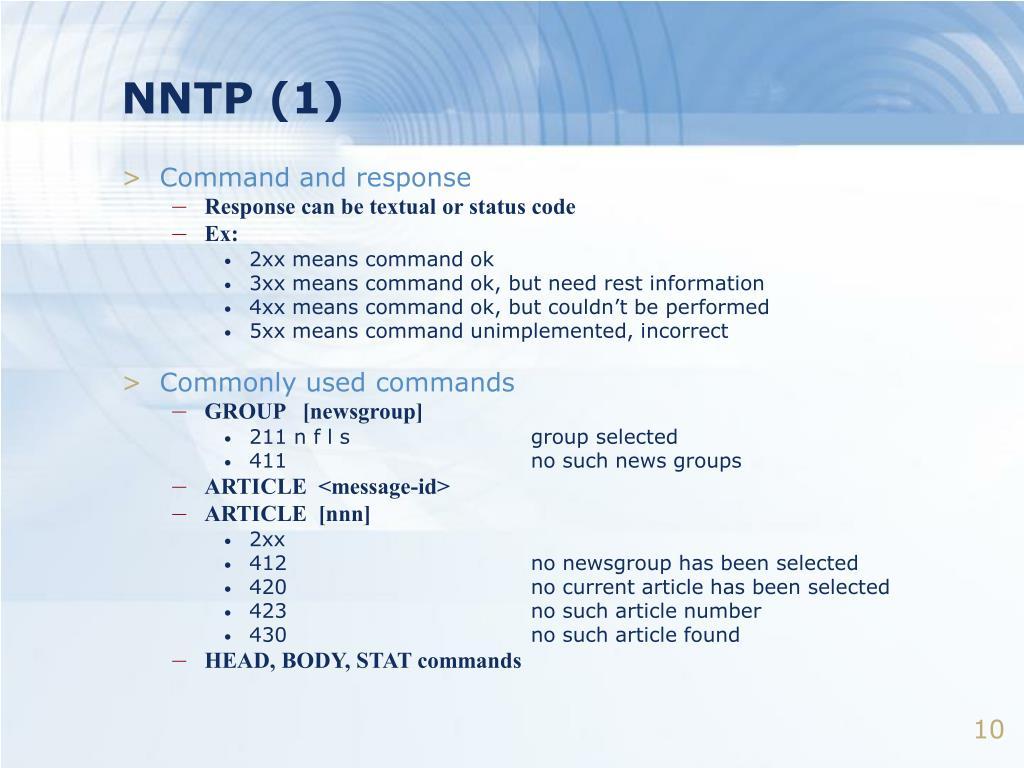 NNTP (1)