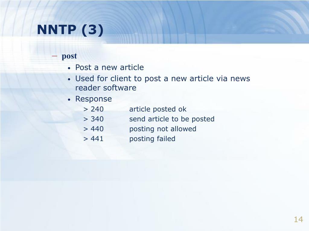 NNTP (3)