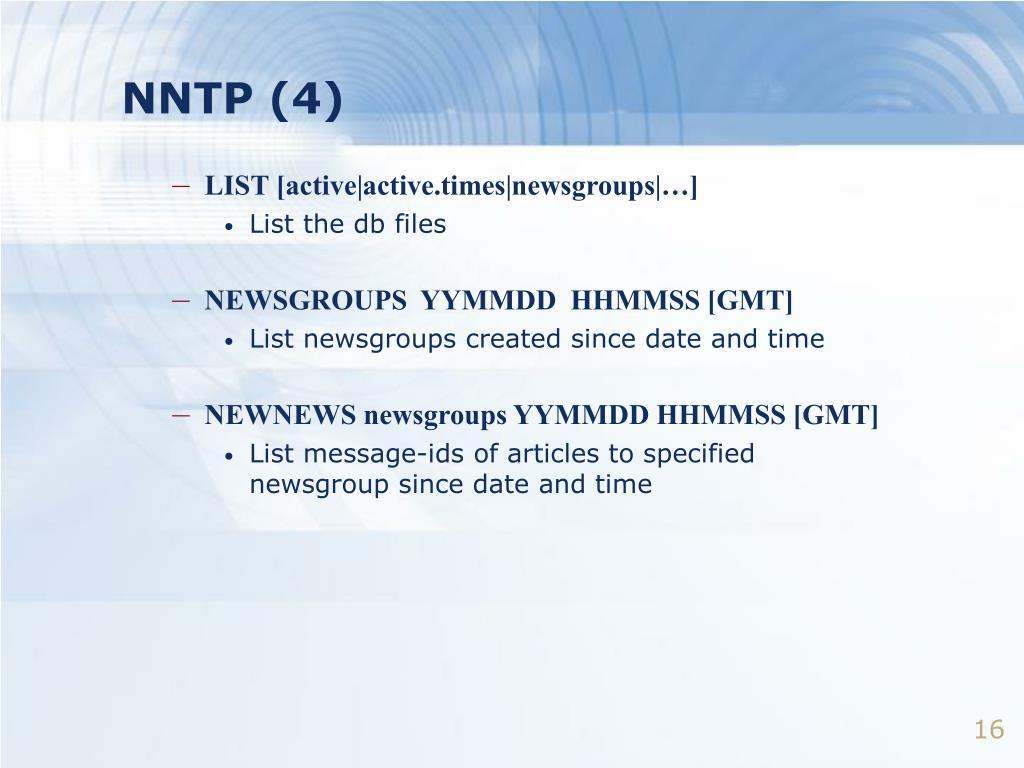 NNTP (4)