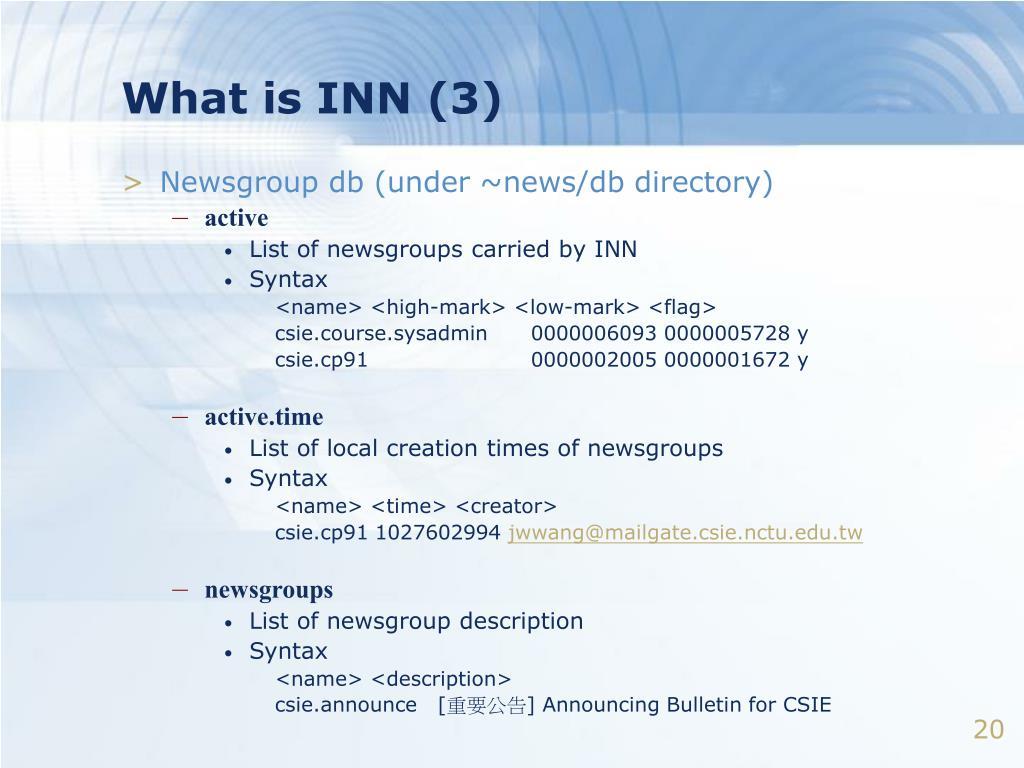 What is INN (3)
