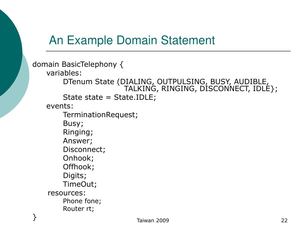 An Example Domain Statement