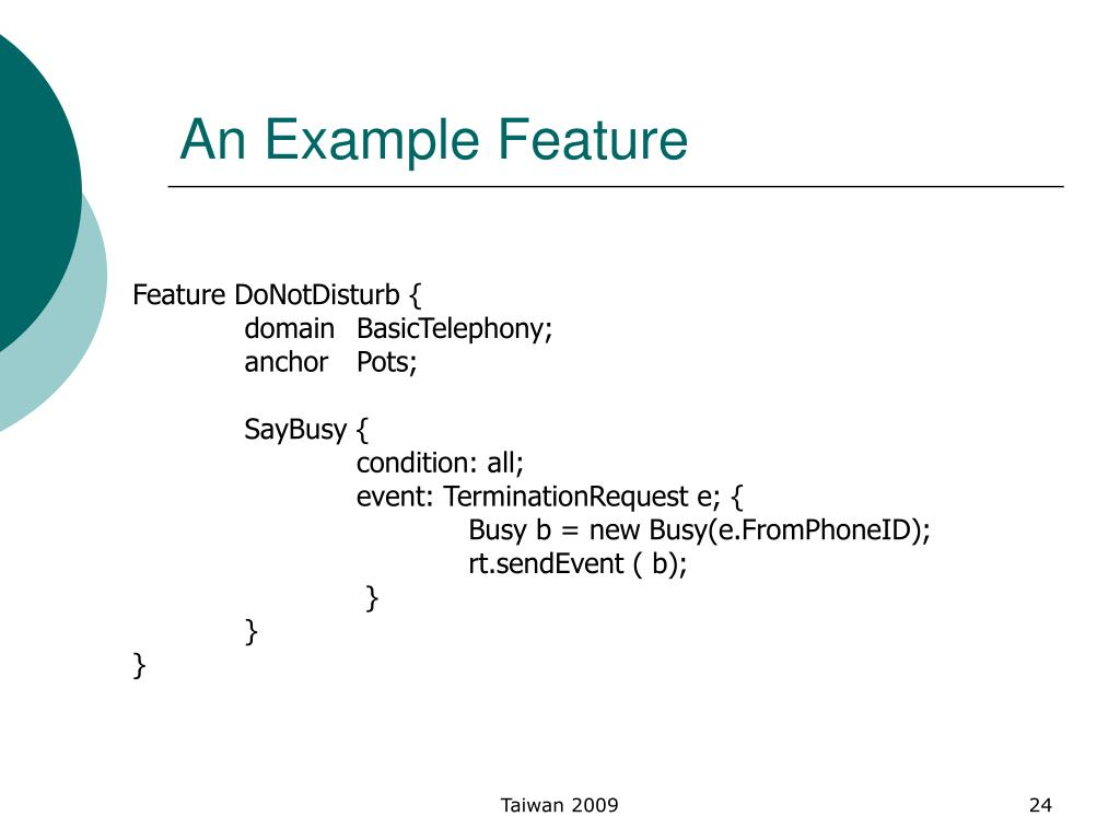 An Example Feature