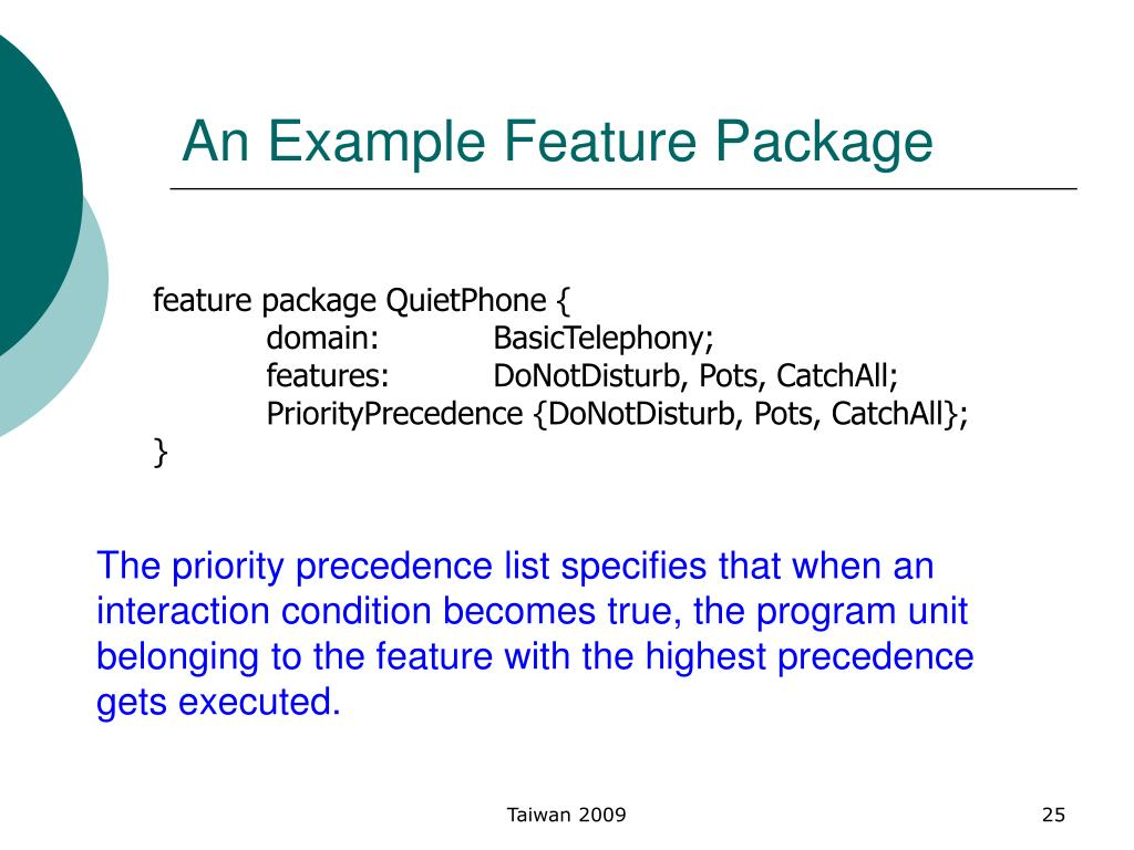 An Example Feature Package